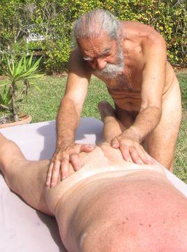 Naked Men Sunbathing The Woman
