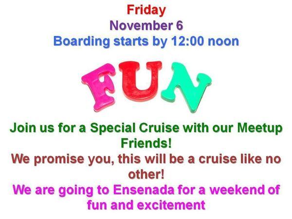 Carnival Weekend Ensenada Meetup Party Cruise So Cal Fun