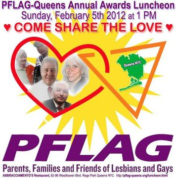 PFLAG Queens Annual Awards Luncheon February 5th 2012