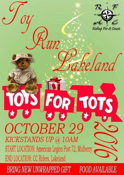 Toys For Tots Family Request : Toys for tots run patriotic riders of tampa fl
