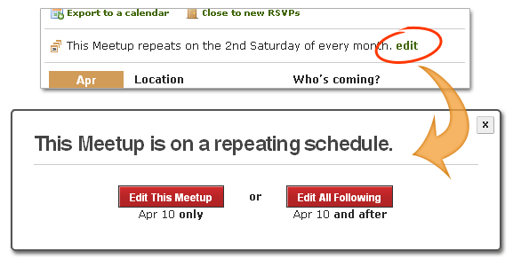 New and improved: Easily schedule repeating Meetups! - The Official