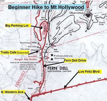 griffith park hiking trails map with Mt Hollywood Hike on Easy Hollywood Sign Hike likewise First Landing State Park besides Mt Hollywood Trail further Challenger Seven Memorial Park Boardwalk Trail also Easy Hollywood Sign Hike.