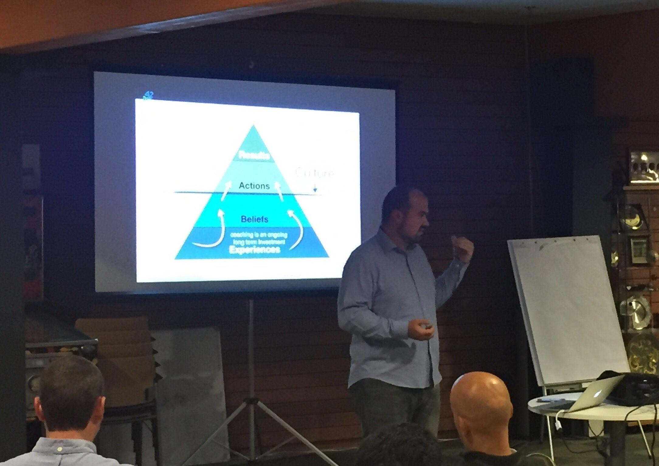 Javier Perez presenteert bij de Agile Coaching meetup