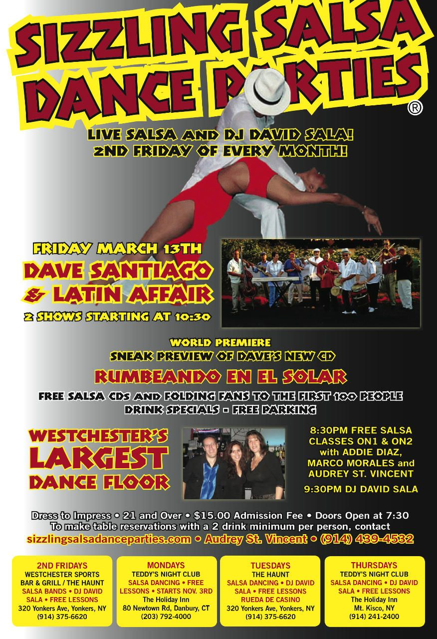 3 13 Dave Santiago And Latin Affair Live Free Salsa Classes On2 Amp On1 In Lower Westchester