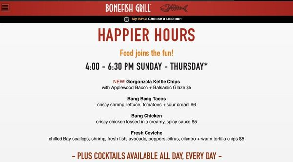 Happy Hour @ Bonefish Grill Winter Garden / Windermere   Wine Lovers And  Adventurers (Winter Park, FL) | Meetup