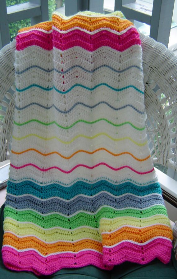 Crochet Ripple Blanket : CROCHET BABY RIPPLE BLANKET PATTERN Crochet Patterns
