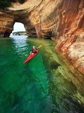 August Kayaking At Pictured Rock Upper Penninsula Shingleton Mi