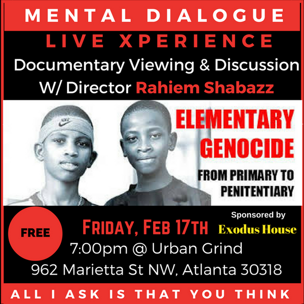 "Elementary Genocide: ""From Primary To Penitentiary"" is a must see documentary, executive produced by award winning journalist/filmmaker Rahiem Shabazz."