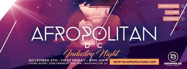 Afropolitandc industry night cross industry speed for Living room 1008 vermont ave nw