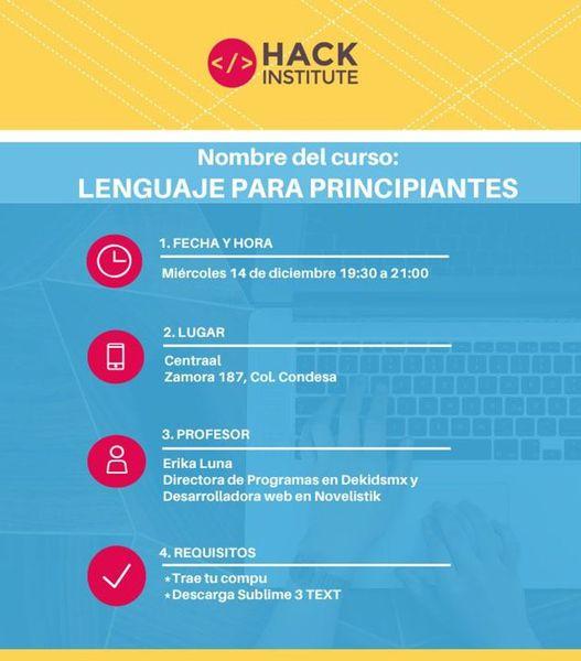 Clase gratis de Lenguaje de programación para principiantes