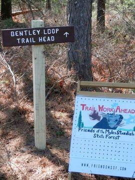 Bentley Loop Trail trailhead sign